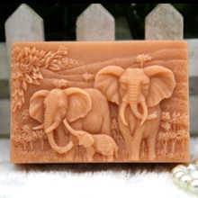 Silicone Elephant Family Candle Soap Molds Craft Mold DIY Handmade Soap Making Mould Crafts Bakeware Cake Decorating Tools