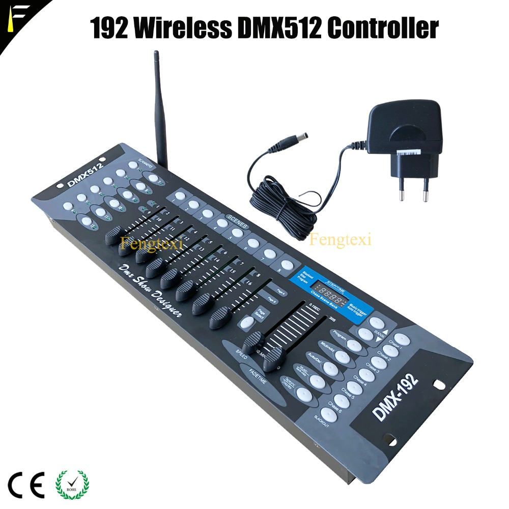 With 2.4G 192Ch Wireless DMX 512 DJ System Controller Stage Moving Head Light Console 192 Channels DMX512 for Disco Equipment new stage light controller 192ch dmx512 controller for stage dj equipment in led par moving head beam christmas laser projector