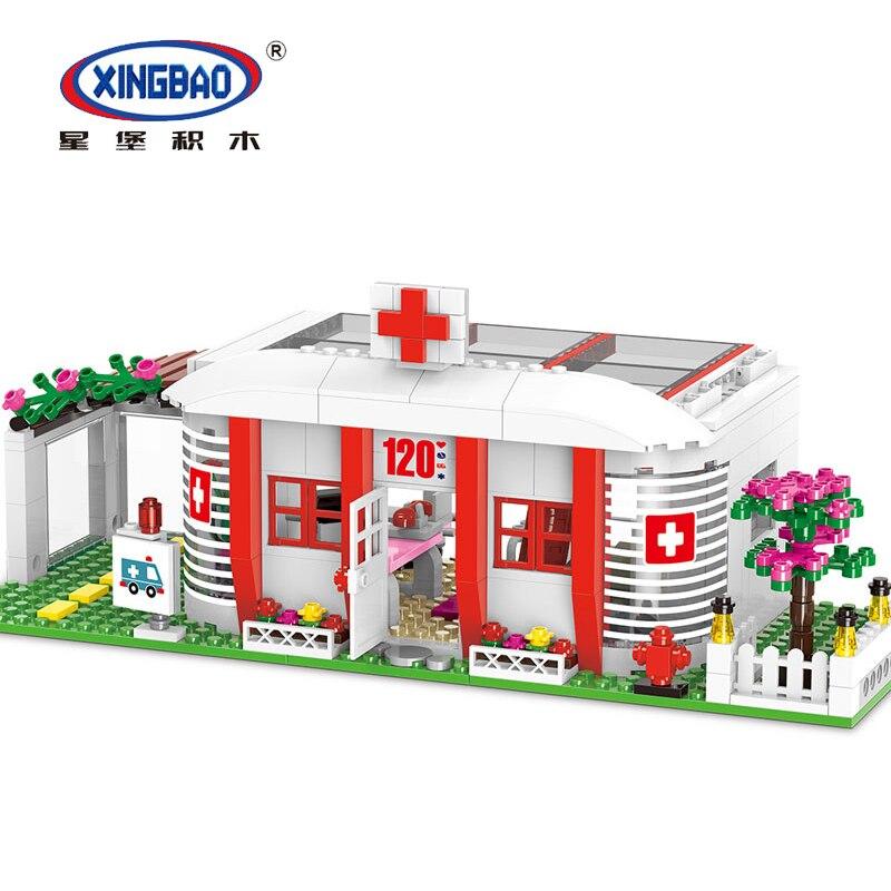 XINGBAO 12009 ville sauvetage l'école hôpital Ambulance filles amis compatibles Legoinglys ensemble blocs de construction briques jouets