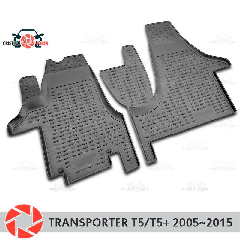 Alfombras de piso para Volkswagen Transporter T5/T5 + 2005 ~ 2015 alfombras antideslizantes de poliuretano tierra Protección interior del coche estilo