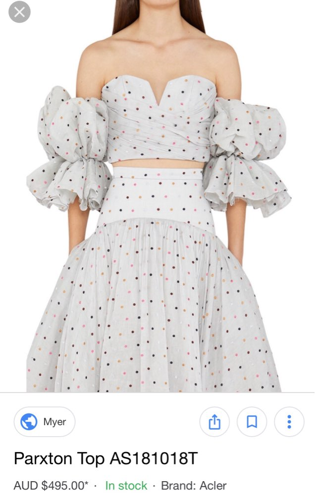 Polka Dot Off Shoulder Women Coat Strapless Puff Sleeve Sexy Tops Female Summer Fashion Clothing photo review
