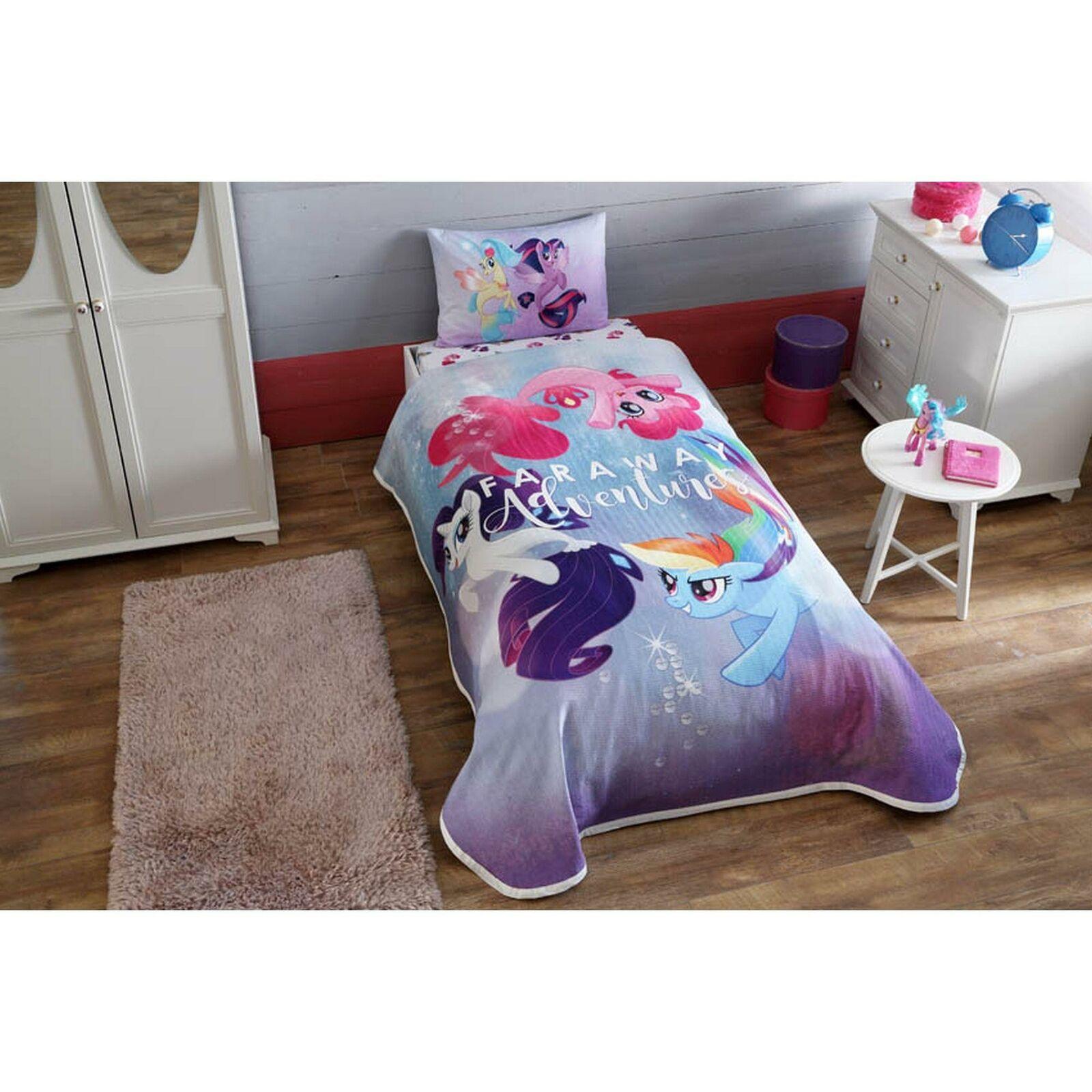 My Little Pony Children Single Bedspread Set, 3 Pcs 100% Cotton Summer Bedding