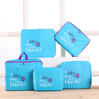 5pcs Set Travel Storage Bags Shoes Clothes Toiletry Organizer Luggage Pouch Kits Wholesale Bulk Lots Accessories