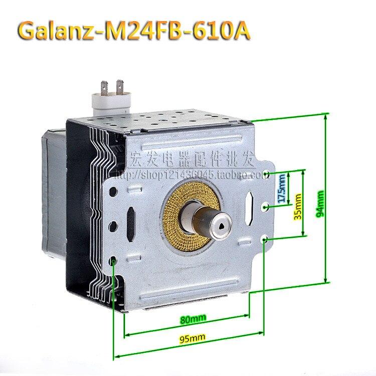 New Original M24FB 610A pour Galanz Magnétron Micro ondes Four Pièces, Micro ondes Four Magnétron Micro ondes four pièces de rechange dans Pièces de four à micro-ondes de Appareils ménagers