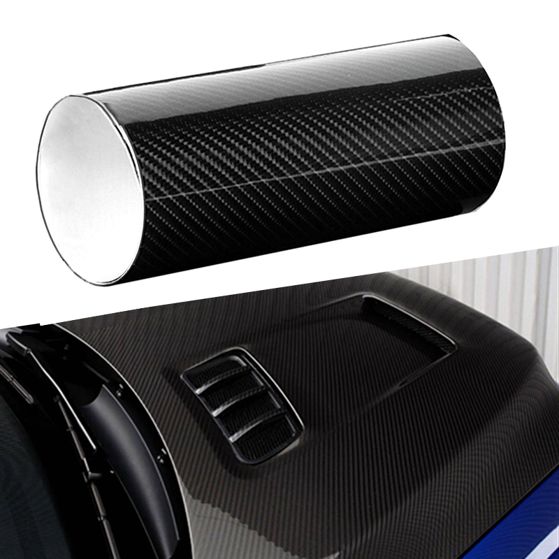 Pegatinas de piel de cocodrilo para motocicleta, fibra de carbono, alto brillo, suave, accesorios para coche