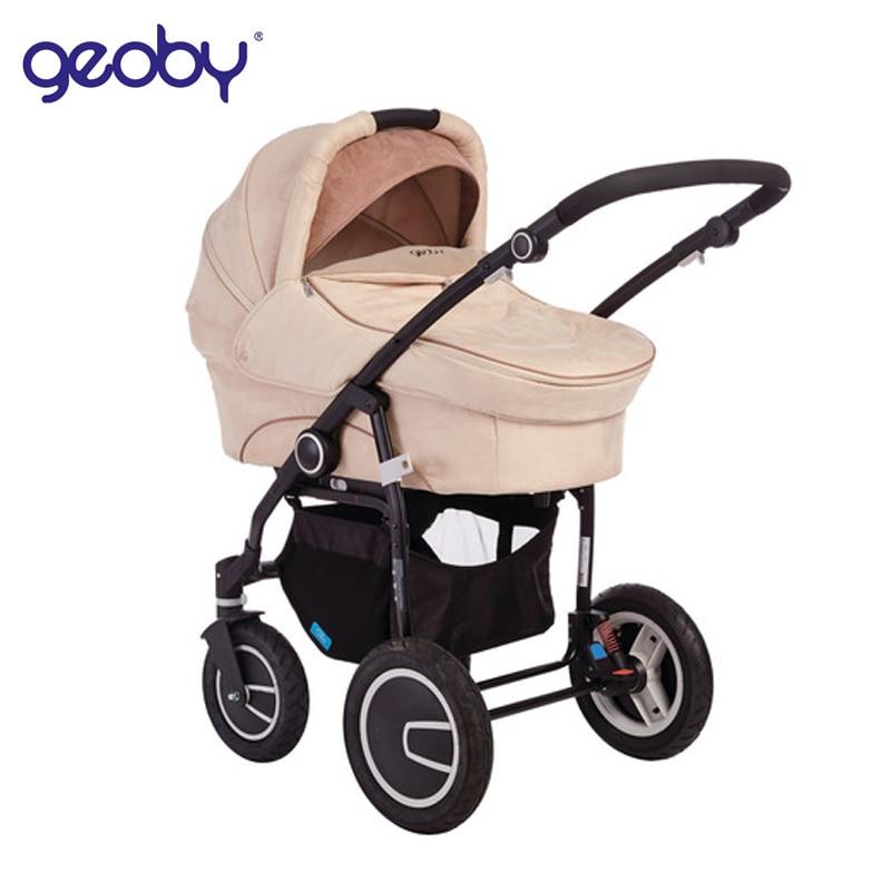 Four Wheels Baby Stroller Geoby C3011 Lux 2 in 1 Kidstravel цена 2017