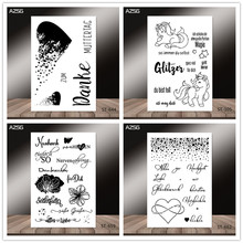 AZSG German style Broken heart Unicorn Clear Stamps for DIY Scrapbooking/photo Album Decorative Craft Stamp Chapte
