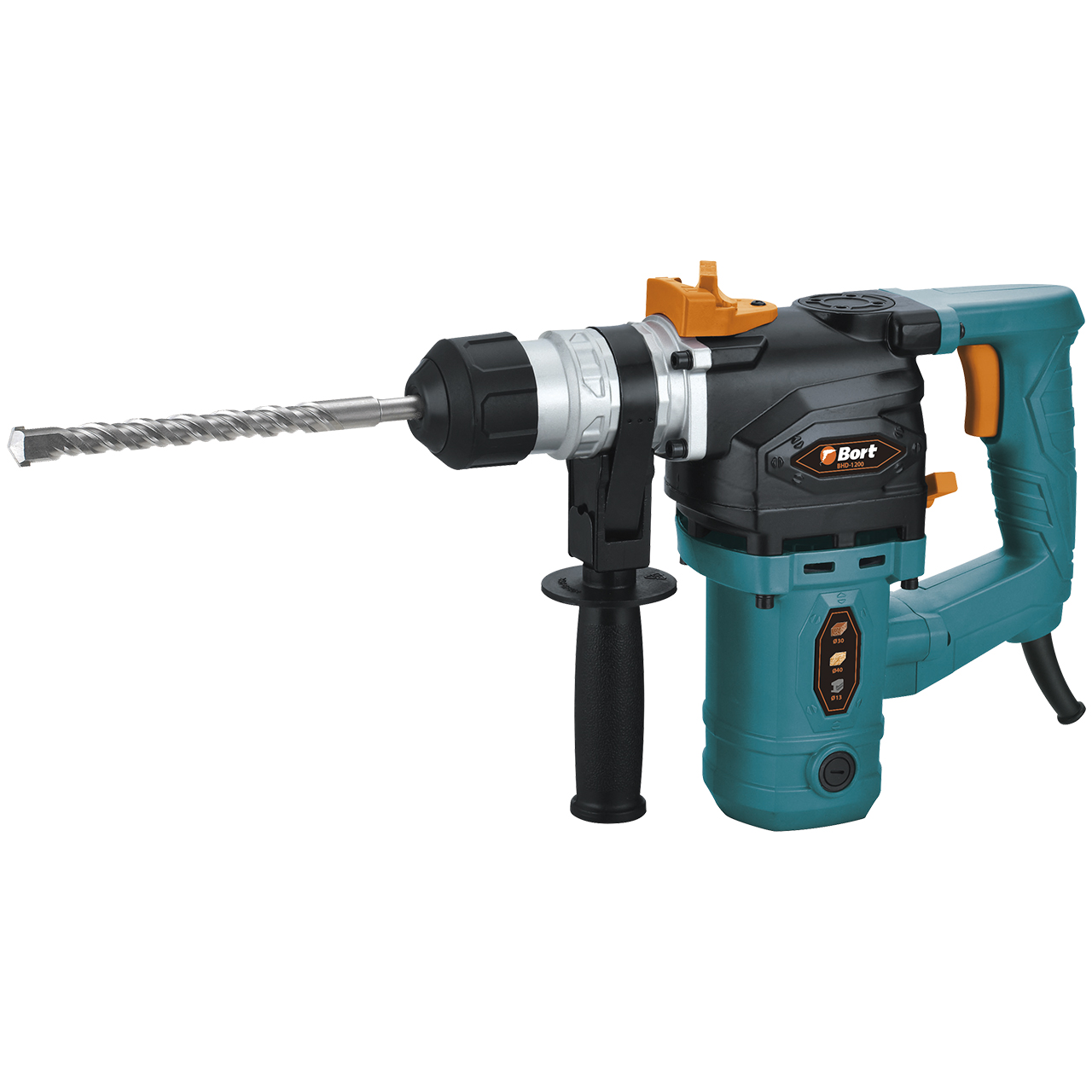 Hammer Drill electric Bort BHD-1200 (Power 1100 W, energy impact 5 J, SDS + Chuck, case)