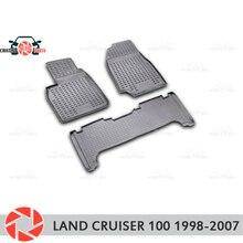 Для Toyota Land Cruiser 100 1998-2007 коврики для пола Нескользящие полиуретановые грязезащитные внутренние аксессуары для стайлинга автомобилей