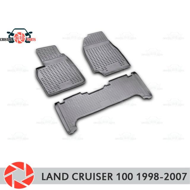 Для Toyota Land Cruiser 100 1998-2007 коврики Нескользящие полиуретановые грязеотталкивающие внутренние аксессуары для стайлинга автомобилей