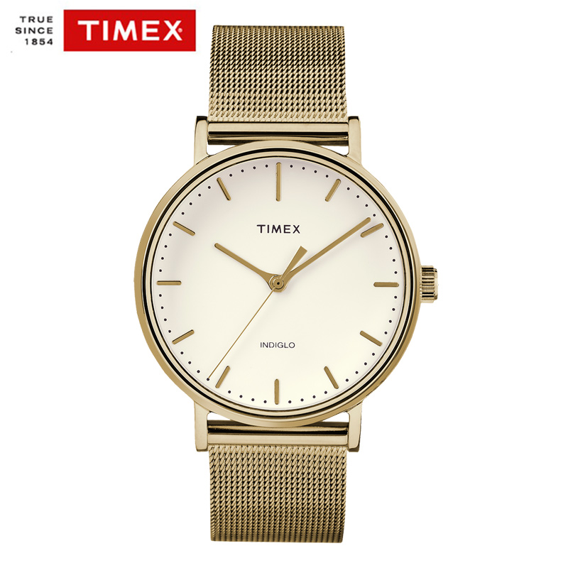 Timex Original Mens Watches The Fairfield TW2R265 Thin Simple Couple Quartz Watch Steel Men Women Couple Watches