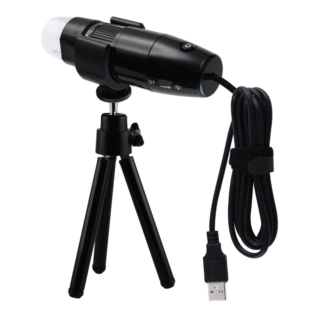 все цены на Digital 10x ~ 200x Magnification USB Microscope with 8 LED Lights 1.3MP Mega Pixels High resolution, Playback & Video Recording онлайн