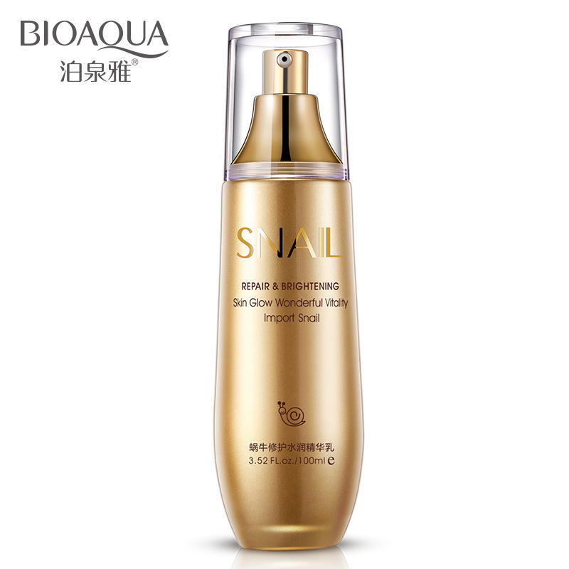 BIOAQUA Snail Cream Whitening Cream Essence Hyaluronic Acid Snail Essence Liquid Anti Wrinkle Anti Aging Collagen Moisturizing футболка с полной запечаткой для мальчиков printio new york
