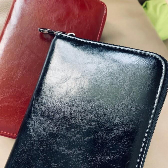 2019 RFid Unisex Wallet Male Female Purse Genuine Leather Carteria Creidt Card Holder Key Zipper Multifunction Women Handy Money photo review