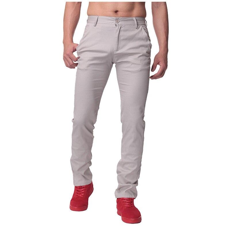 2018 Solid Color Autumn Men Business Formal Trousers chinos Male Slim Fit Casual Pants Cotton Straight Men Long Work Suit Pants