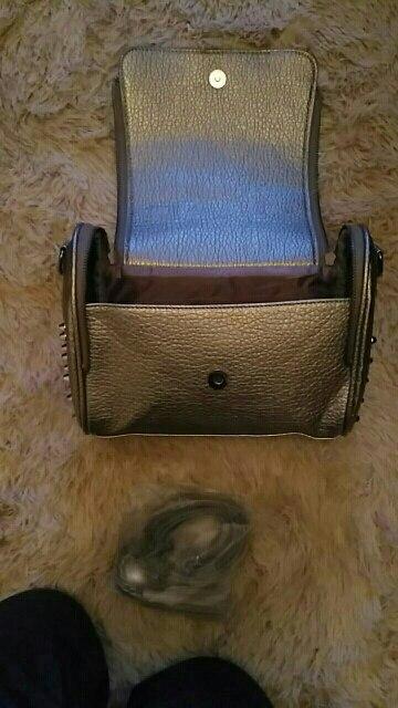 Luxury Handbags Women Bags Designer Handbags High Quality PU Leather Bag Famous Brand Retro Shoulder Bag Rivet Sac a main photo review