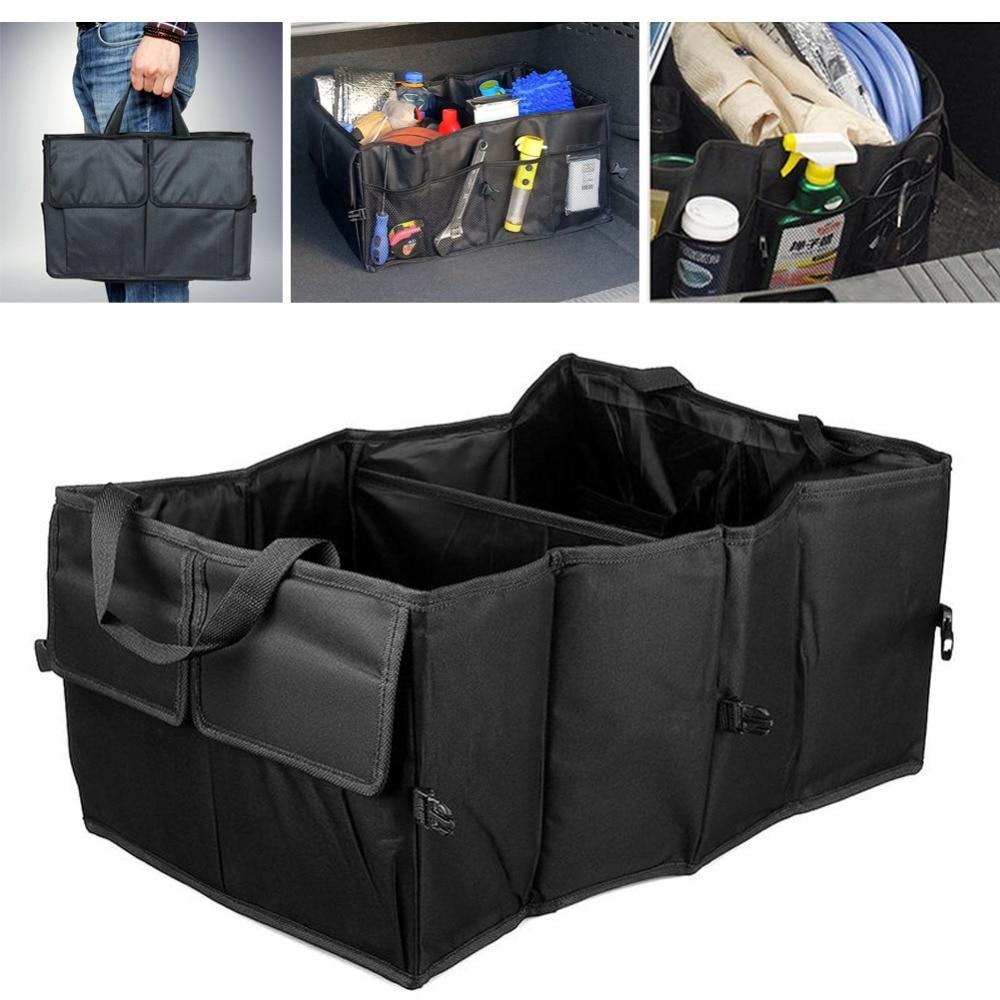 2017 Car Styling 1PC Foldable Car Auto Back Rear Trunk Seat Big Storage Bag Pocket Organizer JUN13