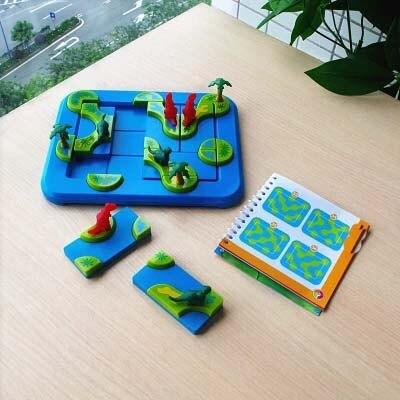 Raisonnement logique puzzles bébé puzzle traverser l'île dinosaure maternelle puzzle jeu anniversaire cadeau