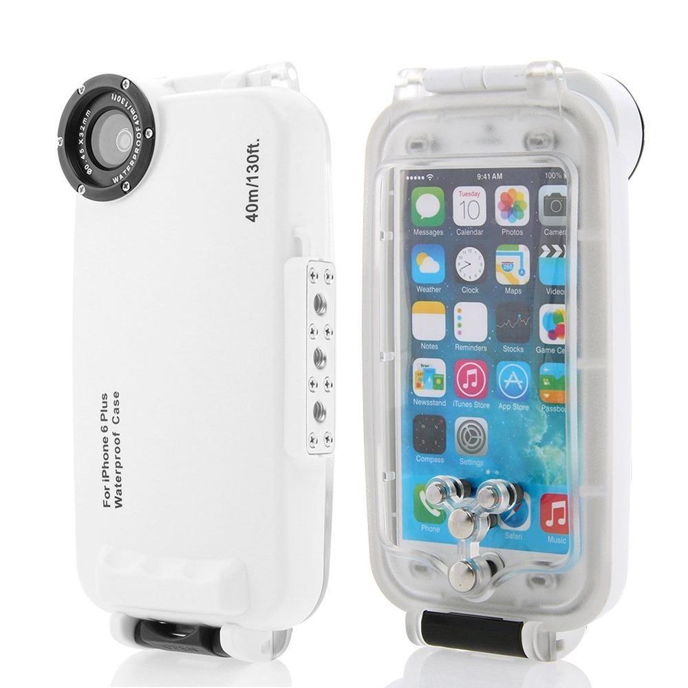 "Waterproof Underwater Housing Diving Phone bag Case for apple iPhone 6 Plus 5.5"" Meikon brand White color"