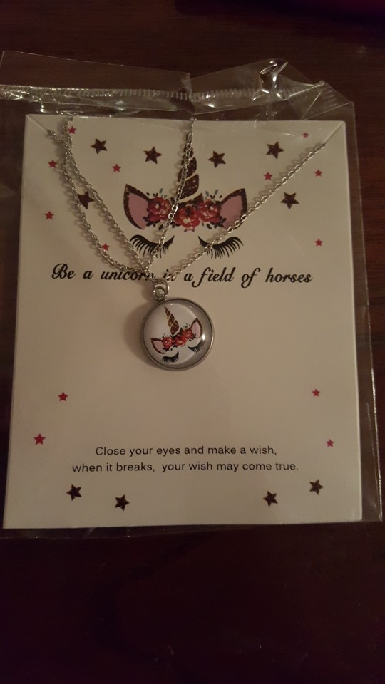 Unicorn Cute Animal Pendants Necklaces Jewelry Birthday Gift photo review