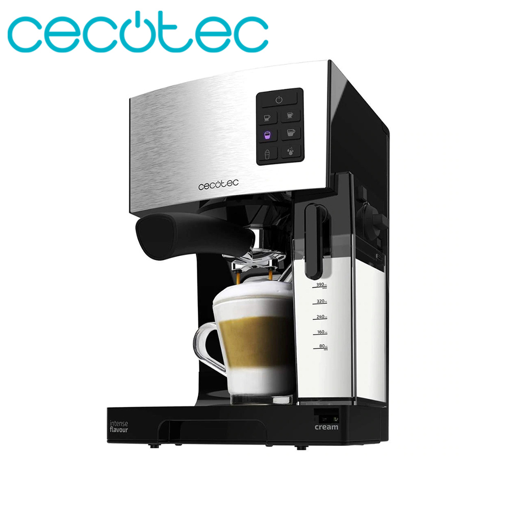 Cecotec Power Coffee Instant-CCino 20 Italian Express Coffee Maker Of 1450w Of Semiautomatic Power Includes Milk Tank