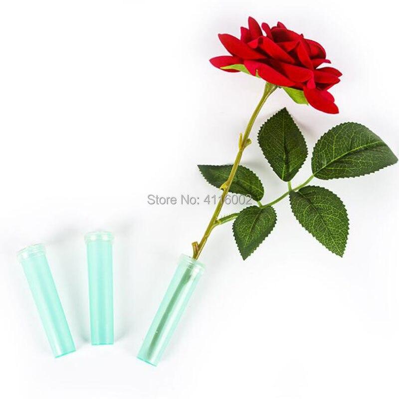Tube d'eau Floral en plastique avec capuchon fleur d'eau fraîche conteneur de fête de mariage événement cadeau tige Tube 4 cm/7 cm