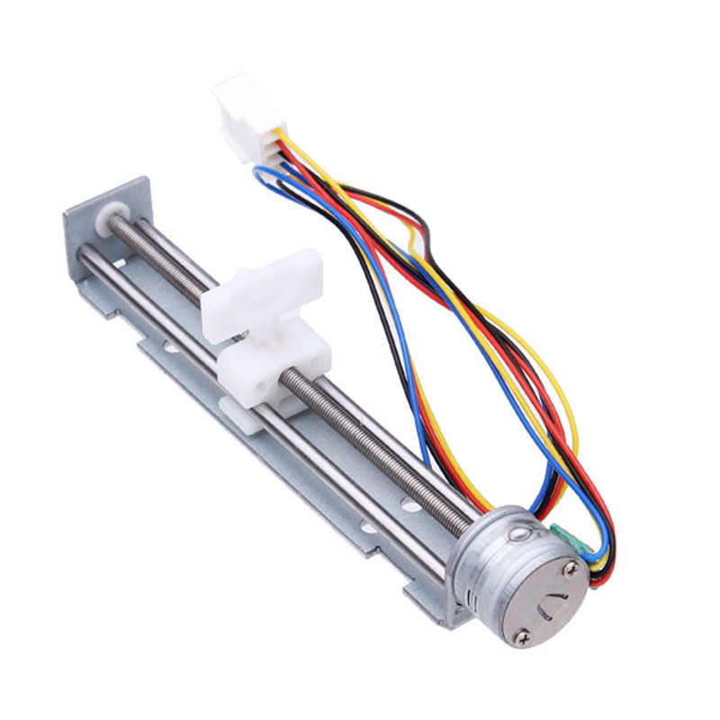 DC 4-9V Drive 18 Degree Stepper Motor Screw With Nut Slider 2 Phase 4 Wire New dc 4 9v drive stepper motor screw with nut slider 2 phase 4 wire micro sliding table fit for laser engraving machine