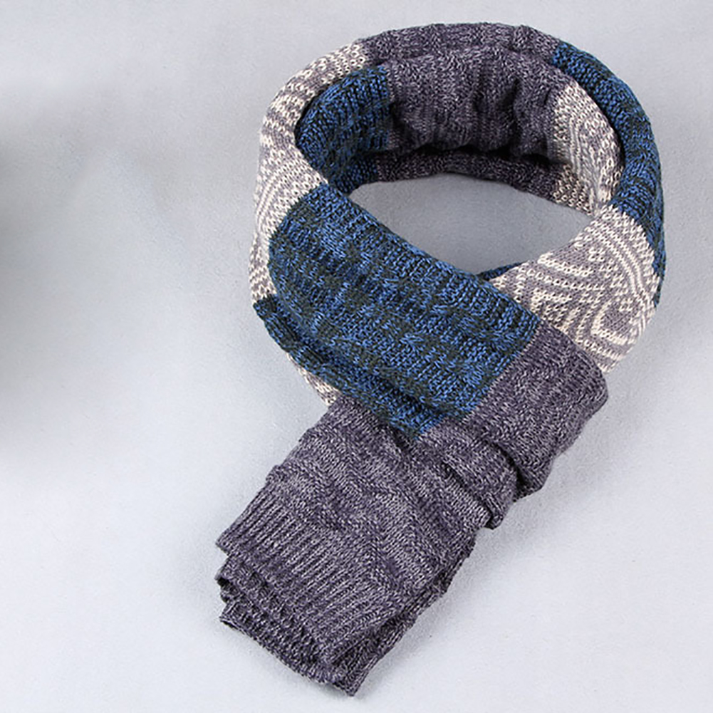 Fashion Unisex Warm Winter Long Comfortable Patchwork Casual Scarf Wrap Gift