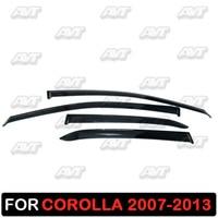 Window deflectors for Toyota Corolla 2007 2013 1 set 4 pcs car styling wind decoration guard vent visor rain guards cover|Chromium Styling| |  -