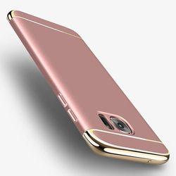패션 3 1 전기 도금 프레임 하드 PC 전화 케이스 갤럭시 S8 플러스 럭셔리 돌아 커버 삼성 S7 가장자리 S6 가장자리 +