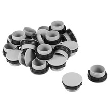 UXCELL 24Pcs 30mm Switches Black Gray Plastic Push Button Switch Hole Panel Plug Accessories Electrical Equipment