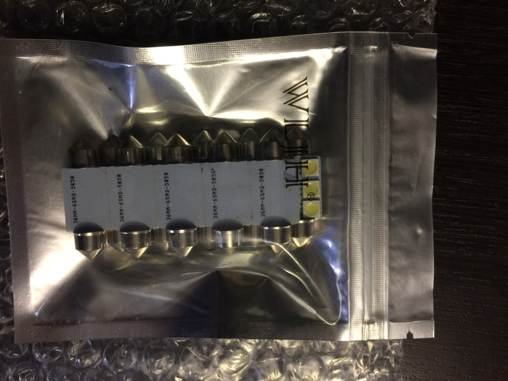 WLJH 10pcs White 36mm Festoon 5050 SMD 6 LED C5W Car Led Auto Interior Dome Door Light Lamp Bulb Pathway lighting 12V Work Lamp
