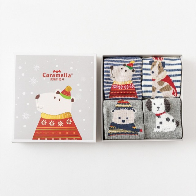 Комплект детских носков «Зимний Медведь», 4 пары