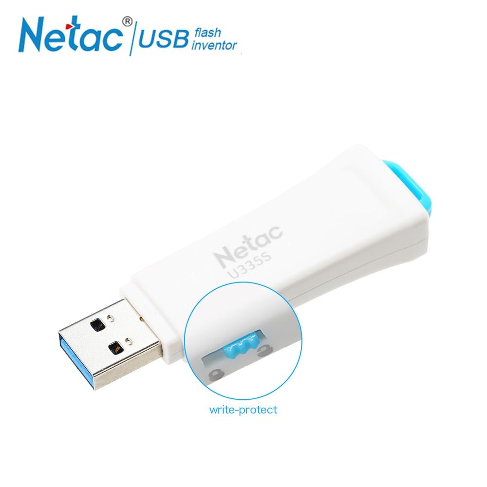 Netac U335S Write Protect Security USB Flash Drive USB 3.0 32GB 16GB White Pen Drive Plastic Memory Storage Protected Pendrive netac u188 blue and white porcelain pattern usb 2 0 flash drive white blue 8gb