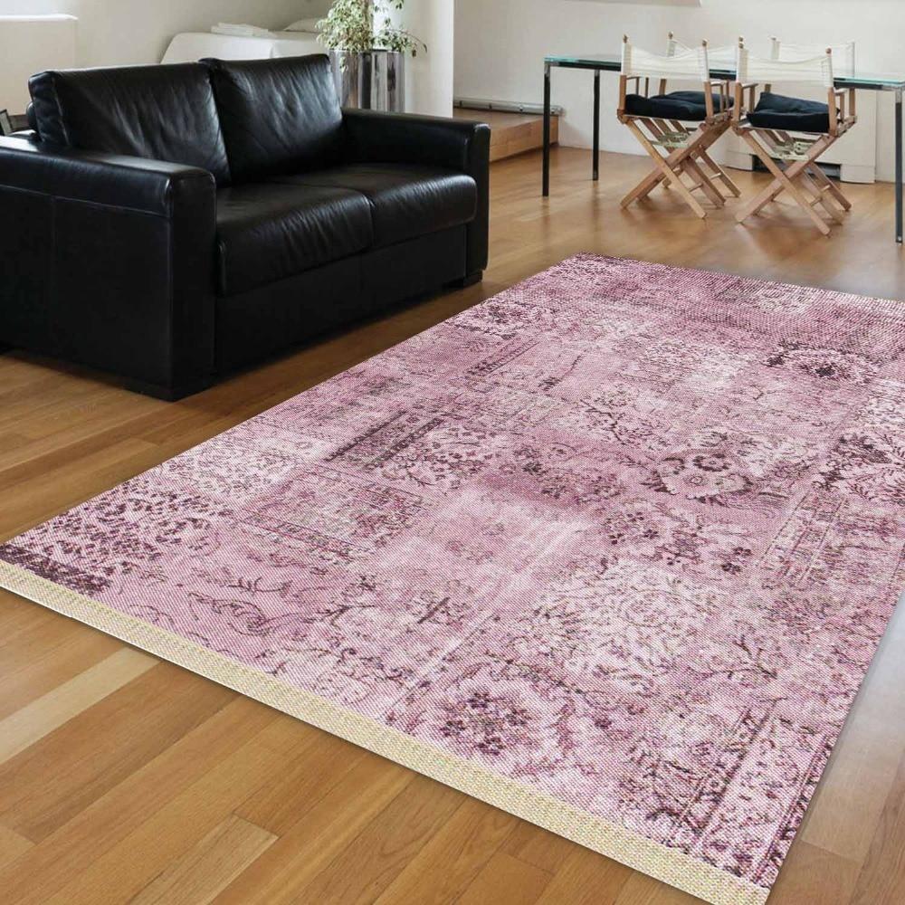 Else Purple Authentic Turkish Ethnic Vintage Ottoman 3d Print Anti Slip Kilim Washable Decorative Area Rug Bohemian Carpet