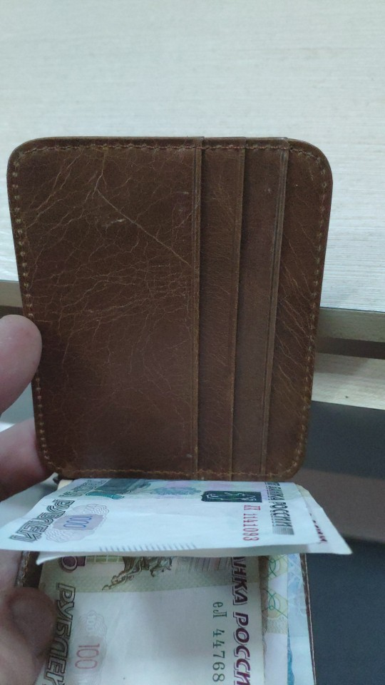 Slymaoyi 2019 Retro Cow Leather Wallet Men Money Clips Quality Cowhide Cards Clutch Wallets Women Housekeeper Clutch Purse photo review