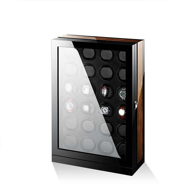 Роскошный uhrenbeweger автоматический ротационный деревянный Сейф мотор mabuchi led часы намотки 24