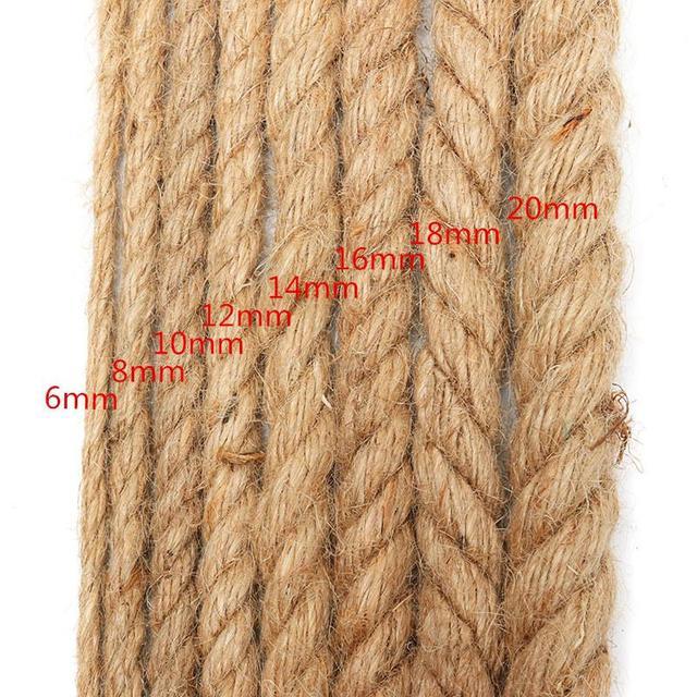 0373470ccf72e KiWarm 1 Rolo de Corda de Algodão Bege 5mm-20mm 100% Algodão Grosso Cordas