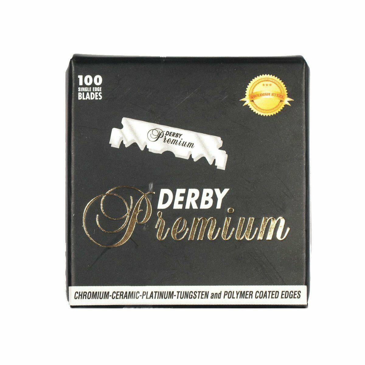 NEW!!! 100 Blades Single Edge Derby PREMIUM Razor Blades Barber,SWEDISH STEEL