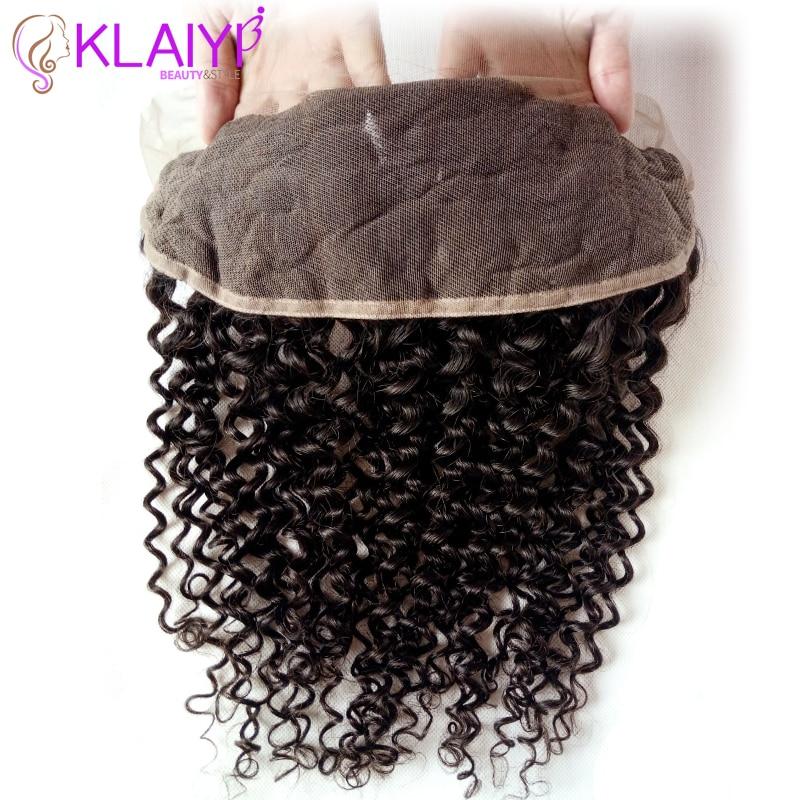 Klaiyi Haar brasilianisches lockiges Haar 13 * 4 Spitze Frontal - Menschenhaar (für Schwarz) - Foto 3