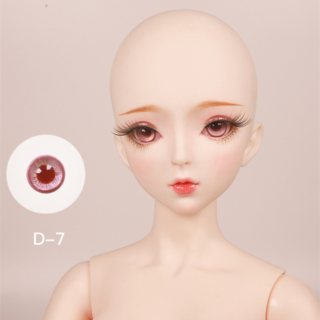 1/3 BJD 14mm Glass eye suitale for 60cm bjd sd doll different colors diy change makeup accessories toy gift