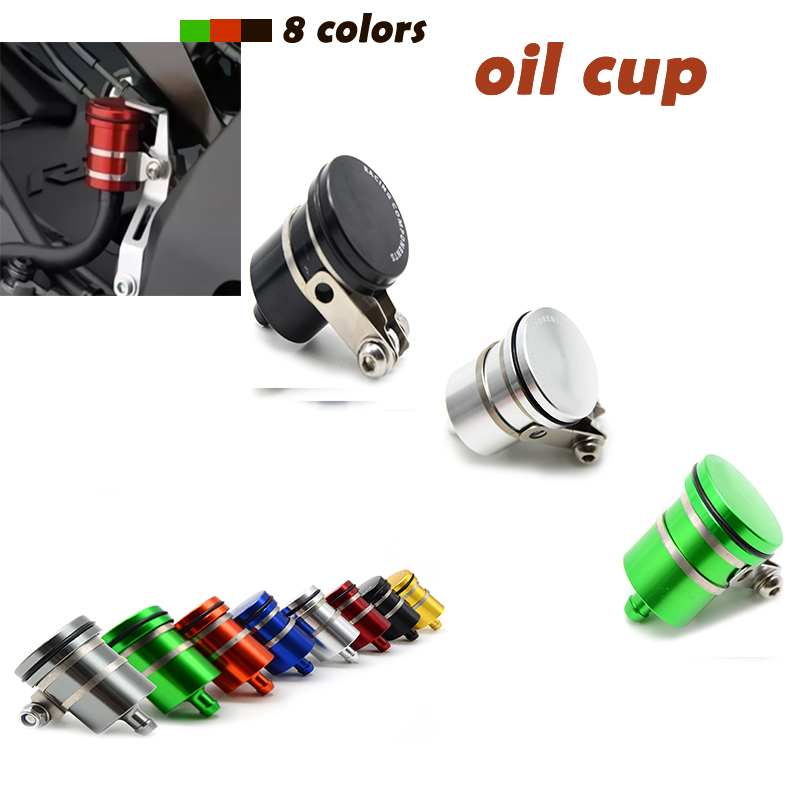 Universal Motorcycle Accessories motorcycle Brake Fluid Reservoir Clutch Tank Oil Cup For Kawasaki Versys 650 KLE650 2008-2013