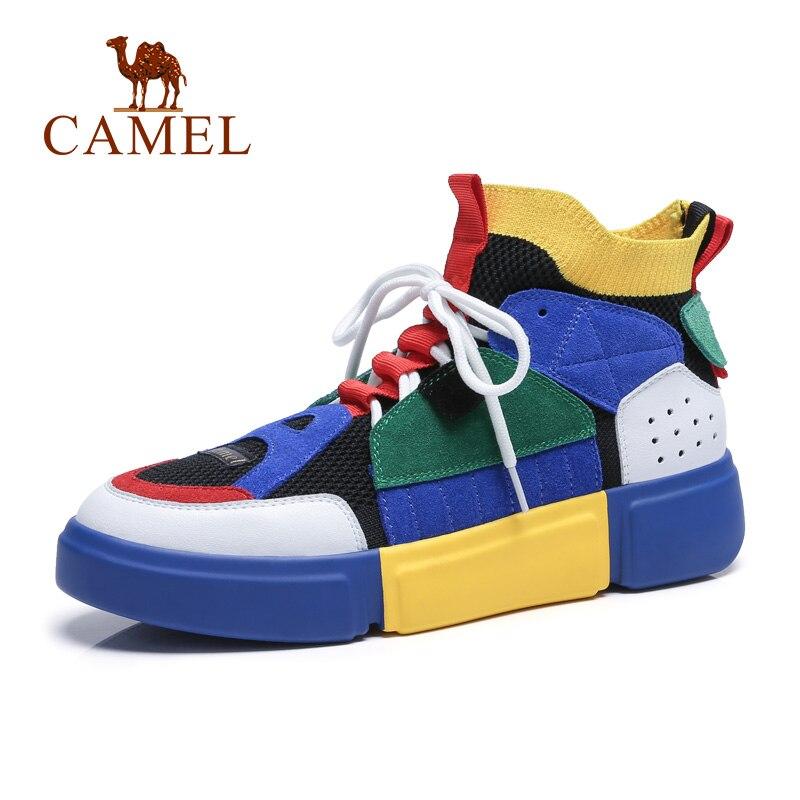 Zapatos de mujer CAMEL primavera planos coreanos deportes al aire libre calle moda Casual zapatos ins Retro costura 3 cm alto zapatos femeninos-in Zapatos vulcanizados de mujer from zapatos    1