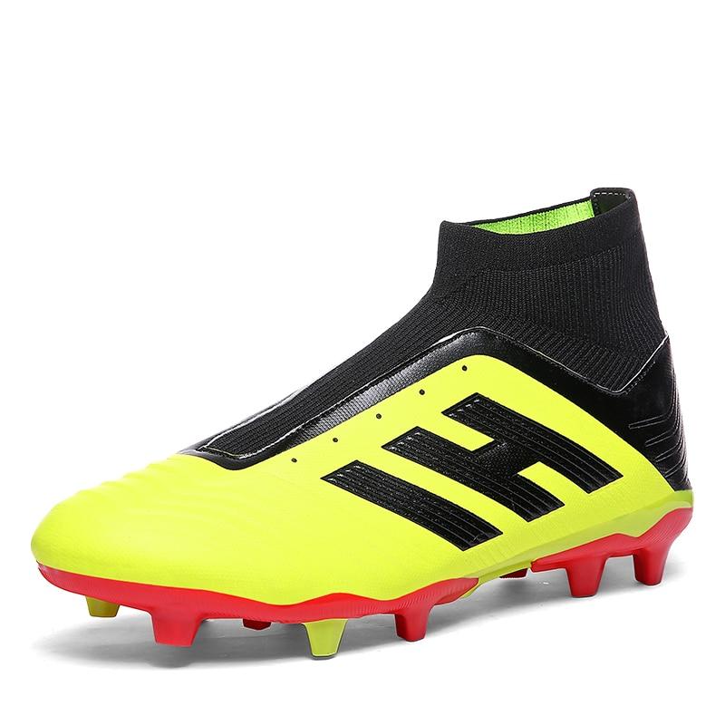 468d9293ce62 Купить Sufei Футбол сапоги 2018 FG футбольные бутсы Для мужчин открытый  детские высокие ботильоны Soocer спортивные ботинки носки бутсы спортивные  кроссо.
