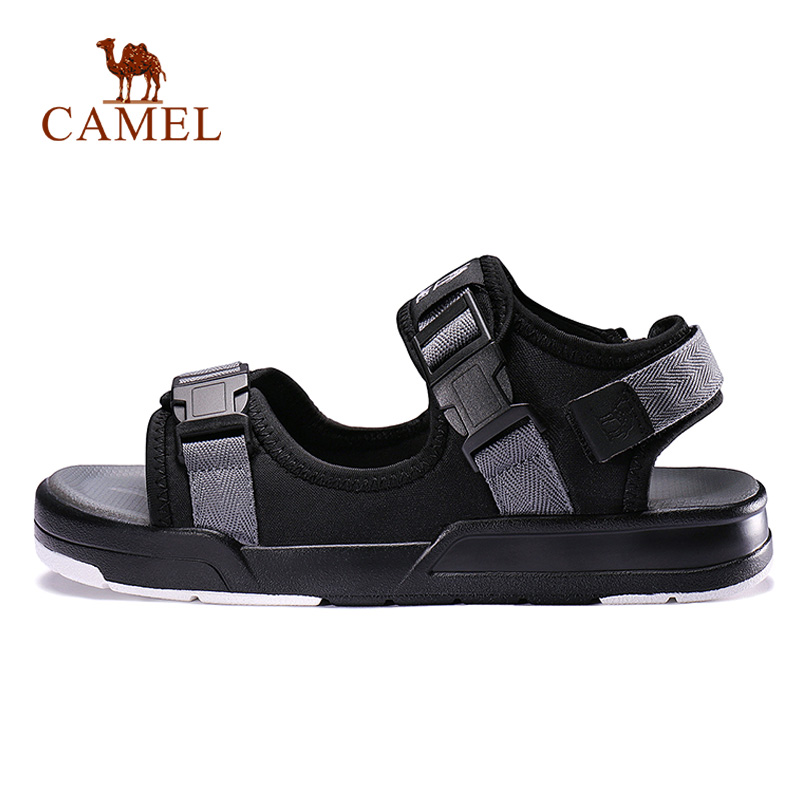 CAMEL Men Women Outdoor Beach Sandals HOOK LOOP Design Spring Summer Casual Fashion Comfortable Outdoor Shoes