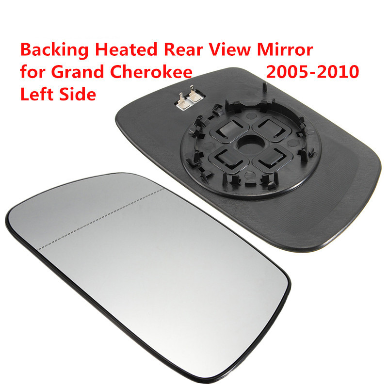 Left Driver Side Heated Rear View Mirror Car Exterior Mirrors Out Heating Rearview Mirror Glass for Jeep Grand Cherokee 05-10 external rear taillights bumper left right side fog lights lamp assembly house holder for jeep grand cherokee replacement parts