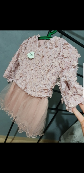 Baby Girls Tutu Dress Long Sleeve Fashion Flower Spring Dress Kids Clothes Princess Party Dresses For Children Girl's Clothes