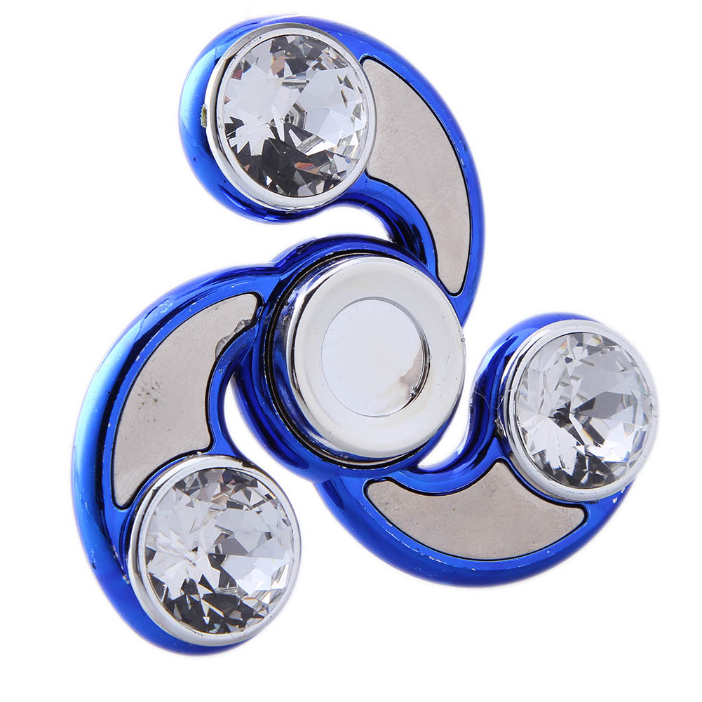 4 Colors Spinner Rhinestones Fidget Toy Plastic EDC Spinner Hand For Autism And ADHD Str ...