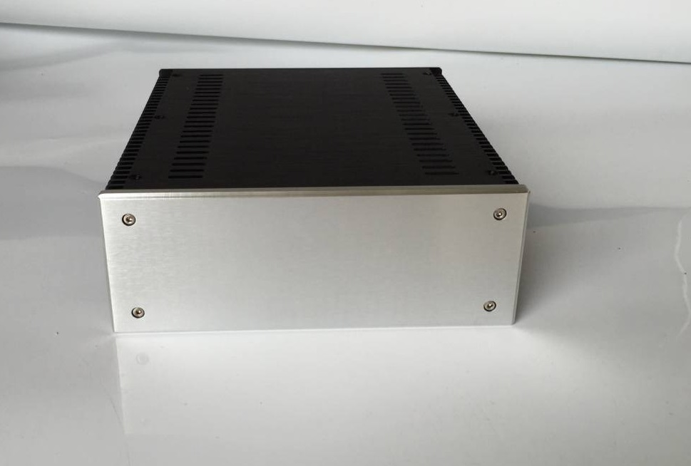 BZ2409D All Aluminum Chassis Amplifier Enclosure Power Amp Case Preamp Housing AMP Box bz3008 all aluminum amplifier chassis preamp integrated amplifier amp enclosure case diy box 280 70 211mm