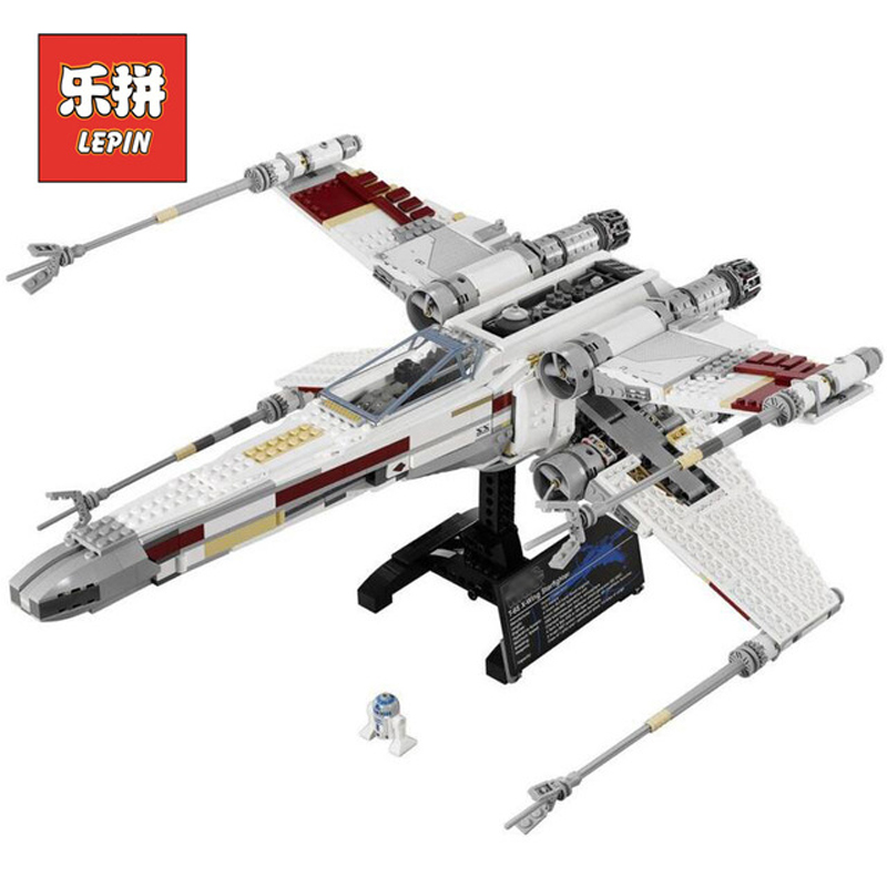 DHL Lepin Sets Star Wars Figures 1586Pcs 05039 Red Five X-wing Starfighter Model Building Kits Blocks Bricks Kids Toy Gift 10240 75102 star wars 7 red five poe s x wing starfighter tie fighter original blocks bricks building kits compatible with legoe